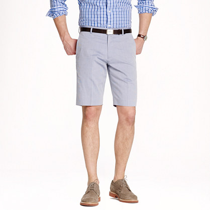 Ludlow suit short in microstripe cotton