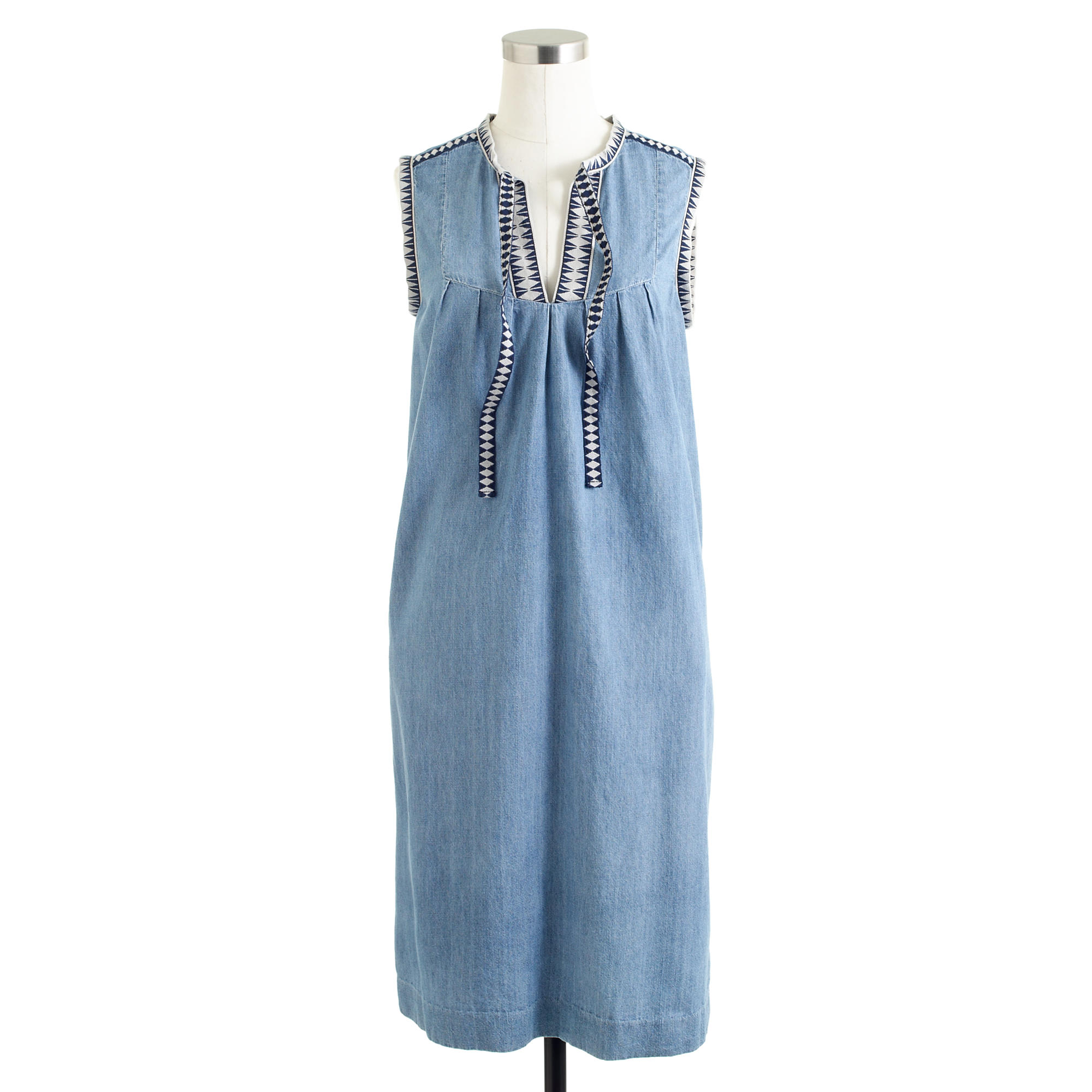 Washed chambray dress j crew for Jcrew com