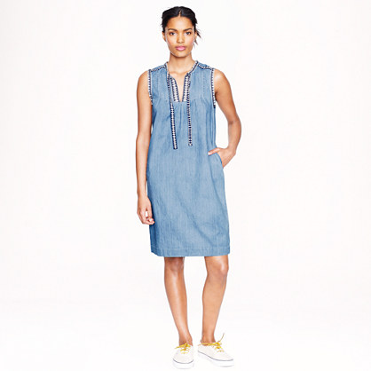 Washed chambray dress