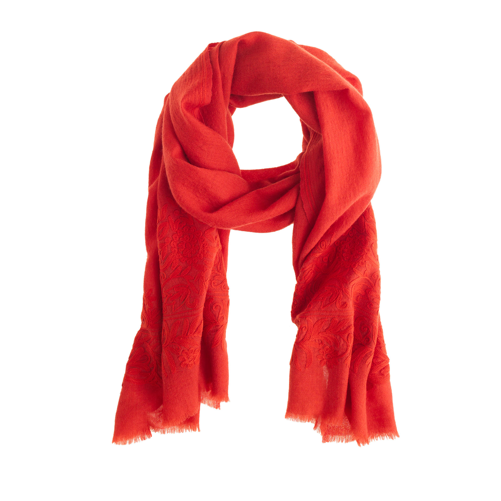 embroidered wool scarf j crew