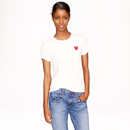 PLAY Comme des Gar�ons® heart T-shirt in white
