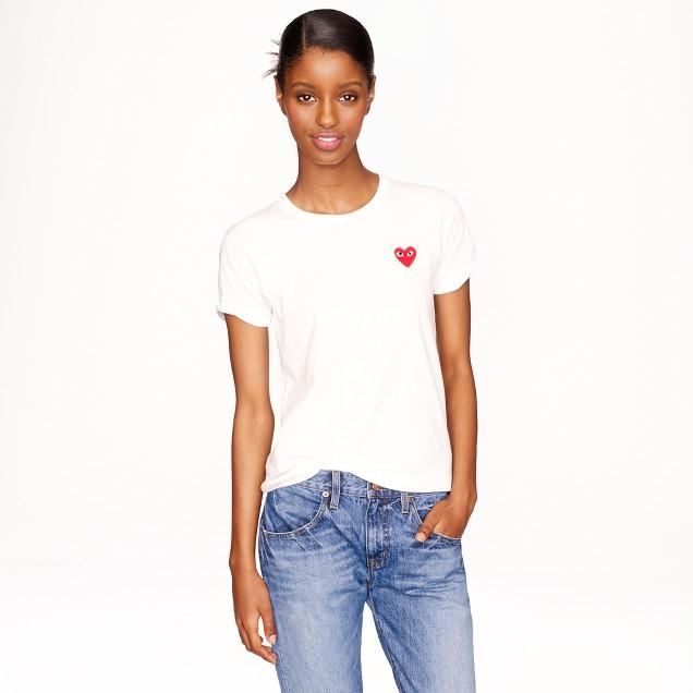 PLAY Comme des Garçons® heart T-shirt in white