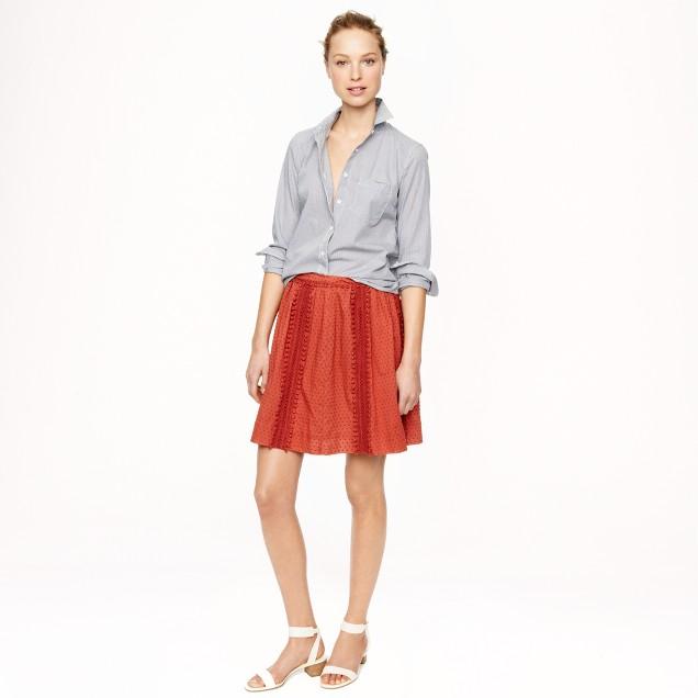 Swiss-dot pom-pom skirt