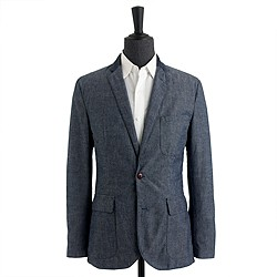 Ludlow sportcoat in contrast Japanese chambray