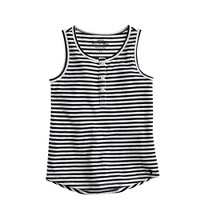 Girls' stripe henley tank