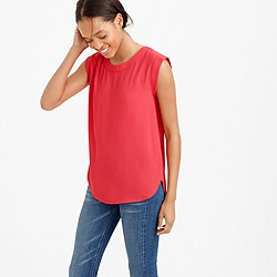 Tall sleeveless drapey top