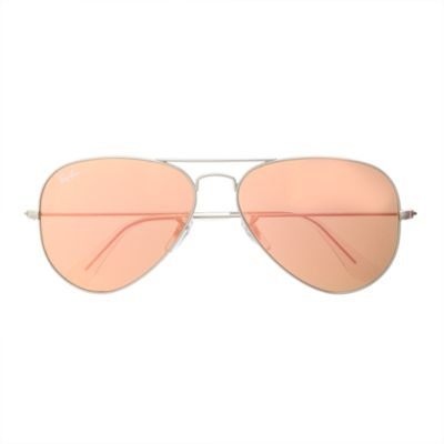 ray ban original aviator sunglasses hvmq  Ray-Ban® original aviator sunglasses with flash mirror lenses