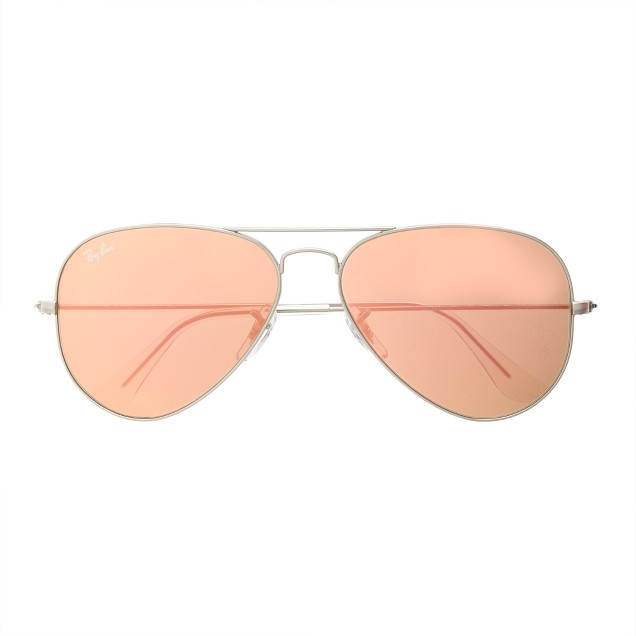 Ray-Ban® original aviator sunglasses with flash mirror lenses