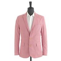 Ludlow sportcoat in mini-gingham lightweight cotton