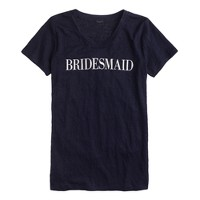 Linen bridesmaid T-shirt