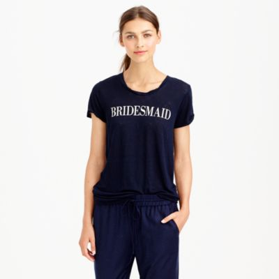 Linen bridesmaid T-shirt : CARDS & GIFTS J.Crew