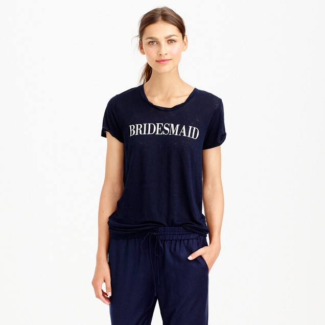 Linen bridesmaid T-shirt