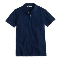 Industry of All Nations® clean indigo polo