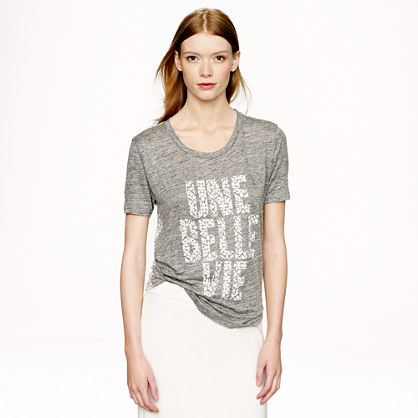 Linen T-shirt in une belle vie