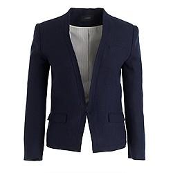 Cutaway linen jacket