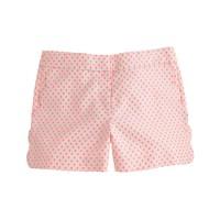 Scallop-pocket short in polka dot