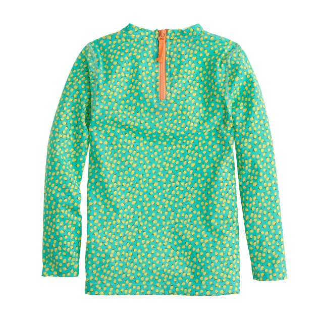 Girls' rash guard in rosebuds