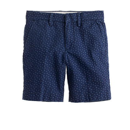 Boys' Irish linen club short in star print