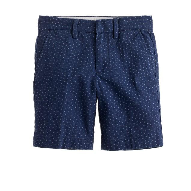 Boys' Irish linen club short in star print