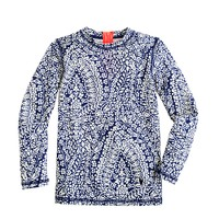 Girls' rash guard in bell floral