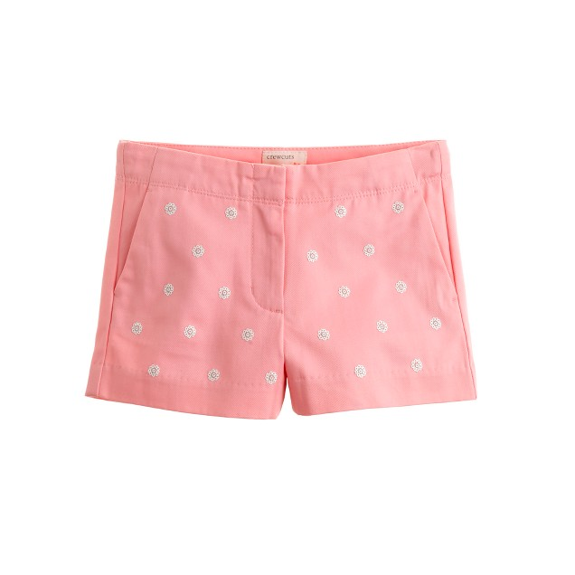 Girls' Frankie short in embroidered sequins