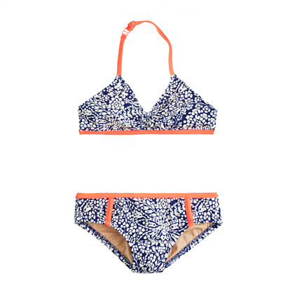Girls' bikini set in bell floral