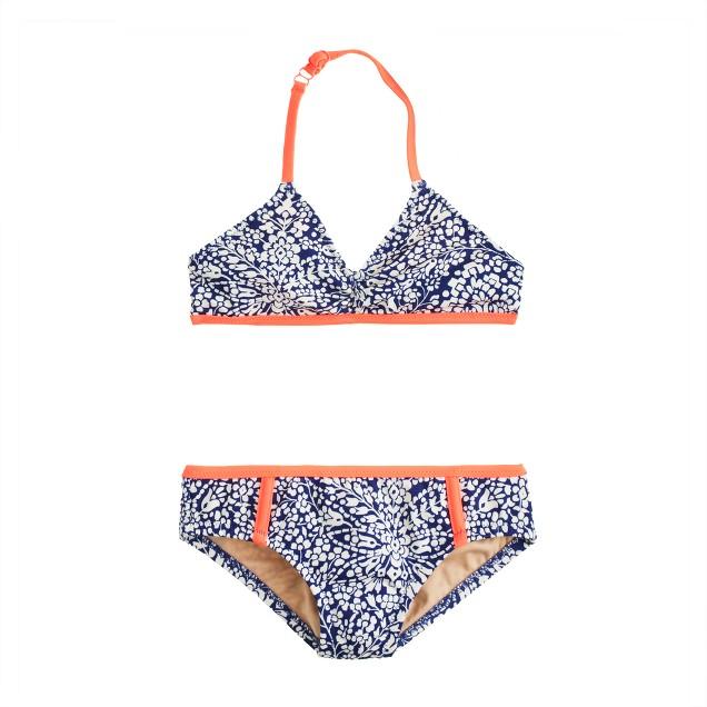 Girls' bikini set in bell floral