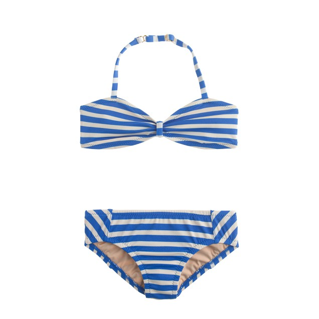 Girls' bikini set in thin stripe