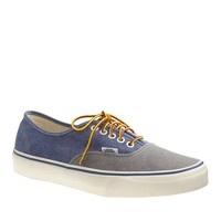 Men's Vans® for J.Crew washed canvas authentic sneakers in two-tone