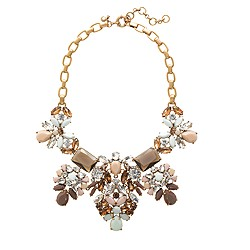 Floral pastel statement necklace