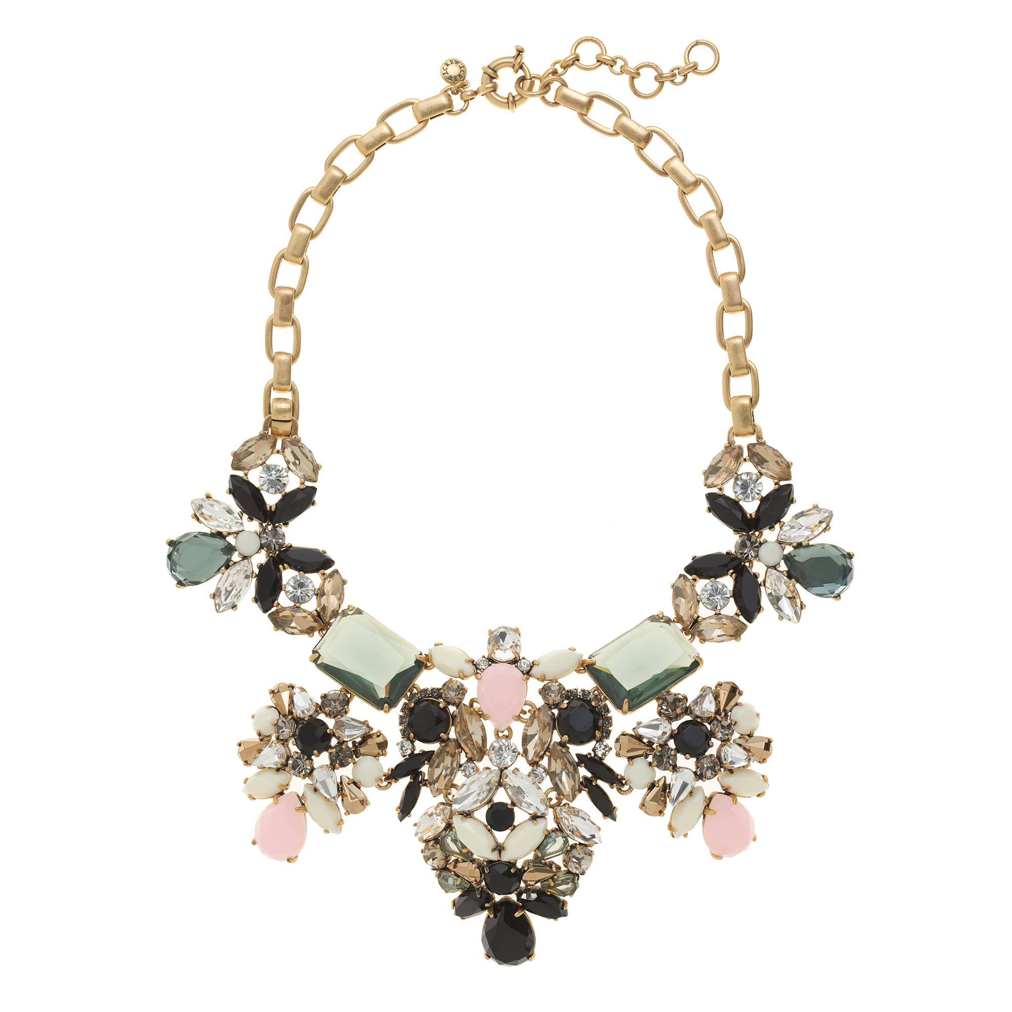 floral pastel statement necklace j crew
