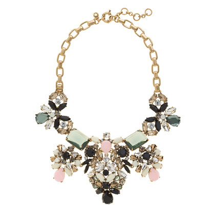 Floral pastel statement necklace necklaces j crew for J crew jewelry 2015