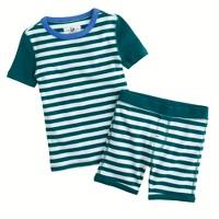 Boys' short-sleeve sleep set in stripe
