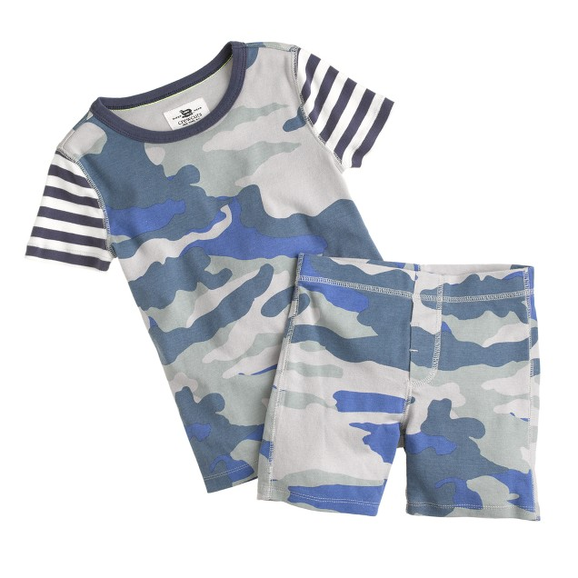 Boys' short-sleeve pajama set in camo