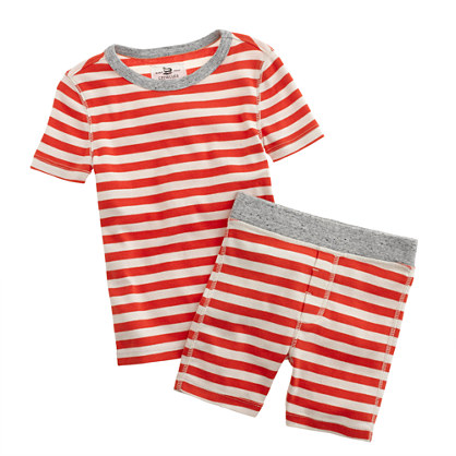 Boys' short pajama set in ringer stripe