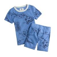Boys' short-sleeve pajama set in Hawaii map print