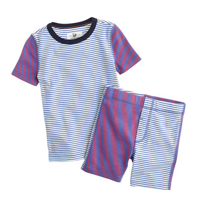 Boys' short-sleeve pajama set in colorblock stripe