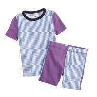 Boys' short-sleeve pajama set in colorblock stripe