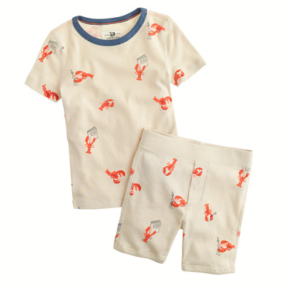 Boys' short-sleeve pajama set in lobster print