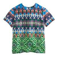 Gemstone floral silk T-shirt