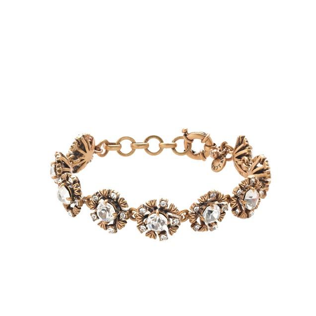 Brass leaves bracelet