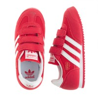 Kids' Adidas® Dragon sneakers in red and white