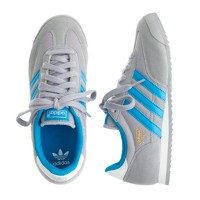 Kids' Adidas® Dragon sneakers in grey and blue in larger sizes