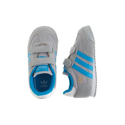 Kids' junior Adidas® Dragon sneakers in grey and blue