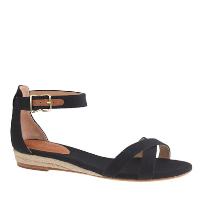 Marina canvas mini-wedge espadrilles