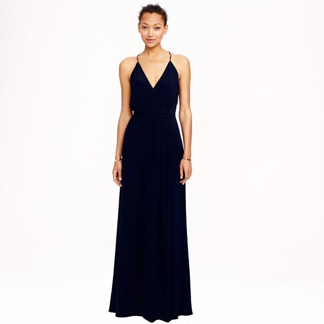 Manuela long dress in crepe