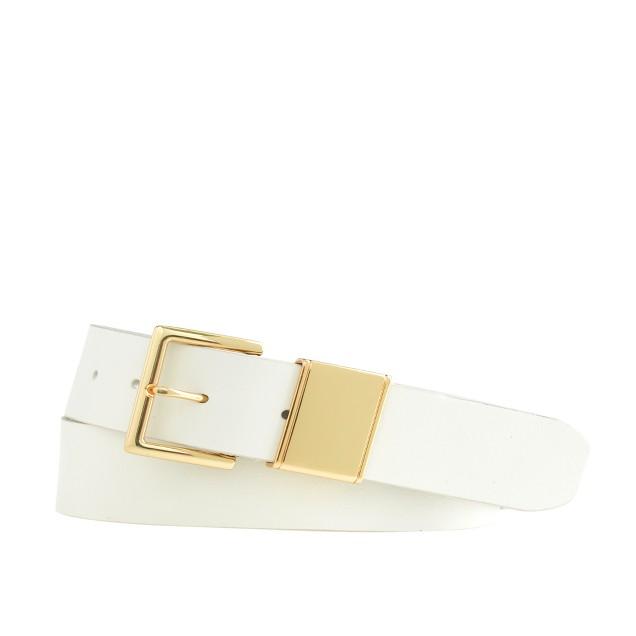 Golden-trim leather belt
