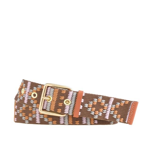 Pattern stitch belt