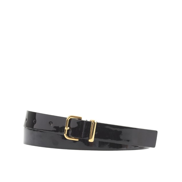Patent square-buckle belt