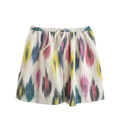 Girls' watercolor ikat skirt